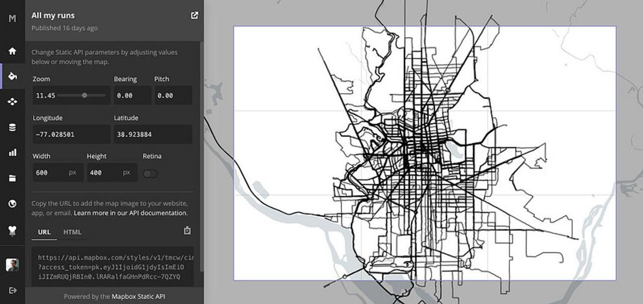 Printed running map - macwright org