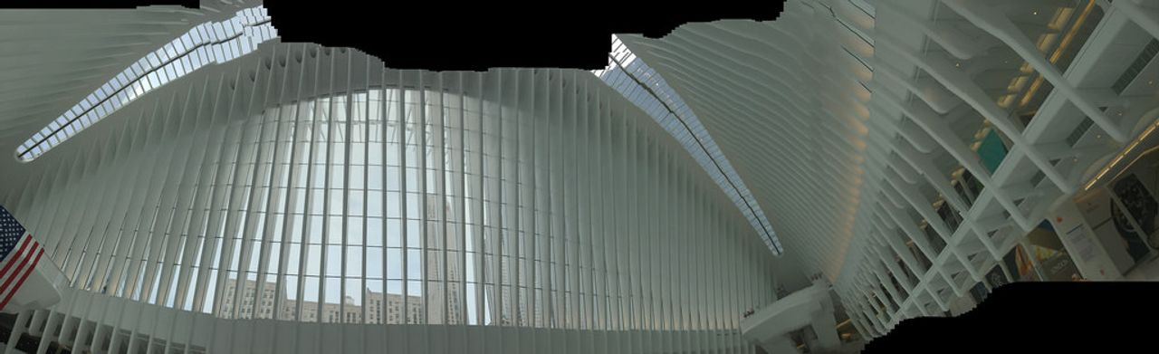 View from inside the Oculus in New York City