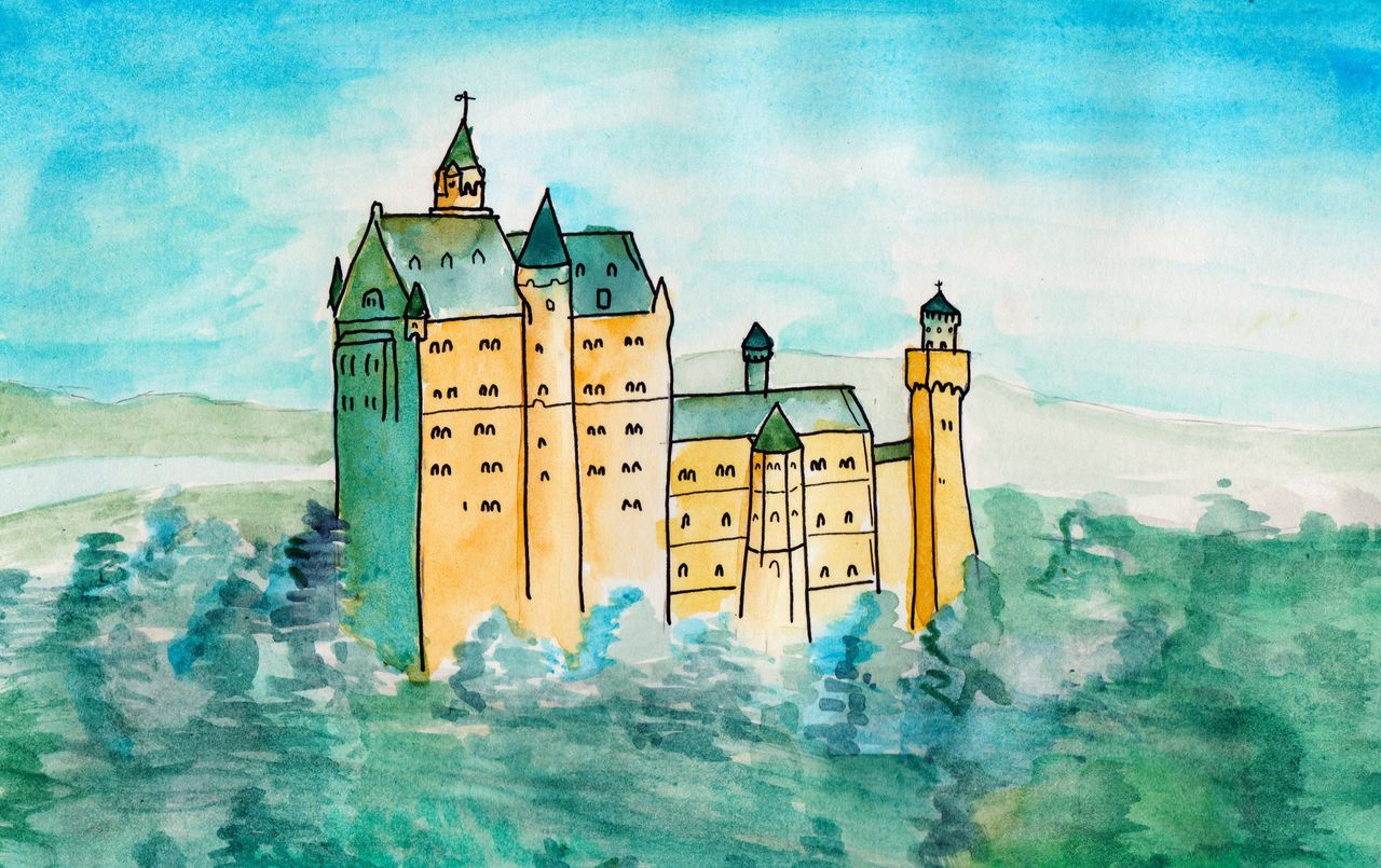 Castle watercoloring