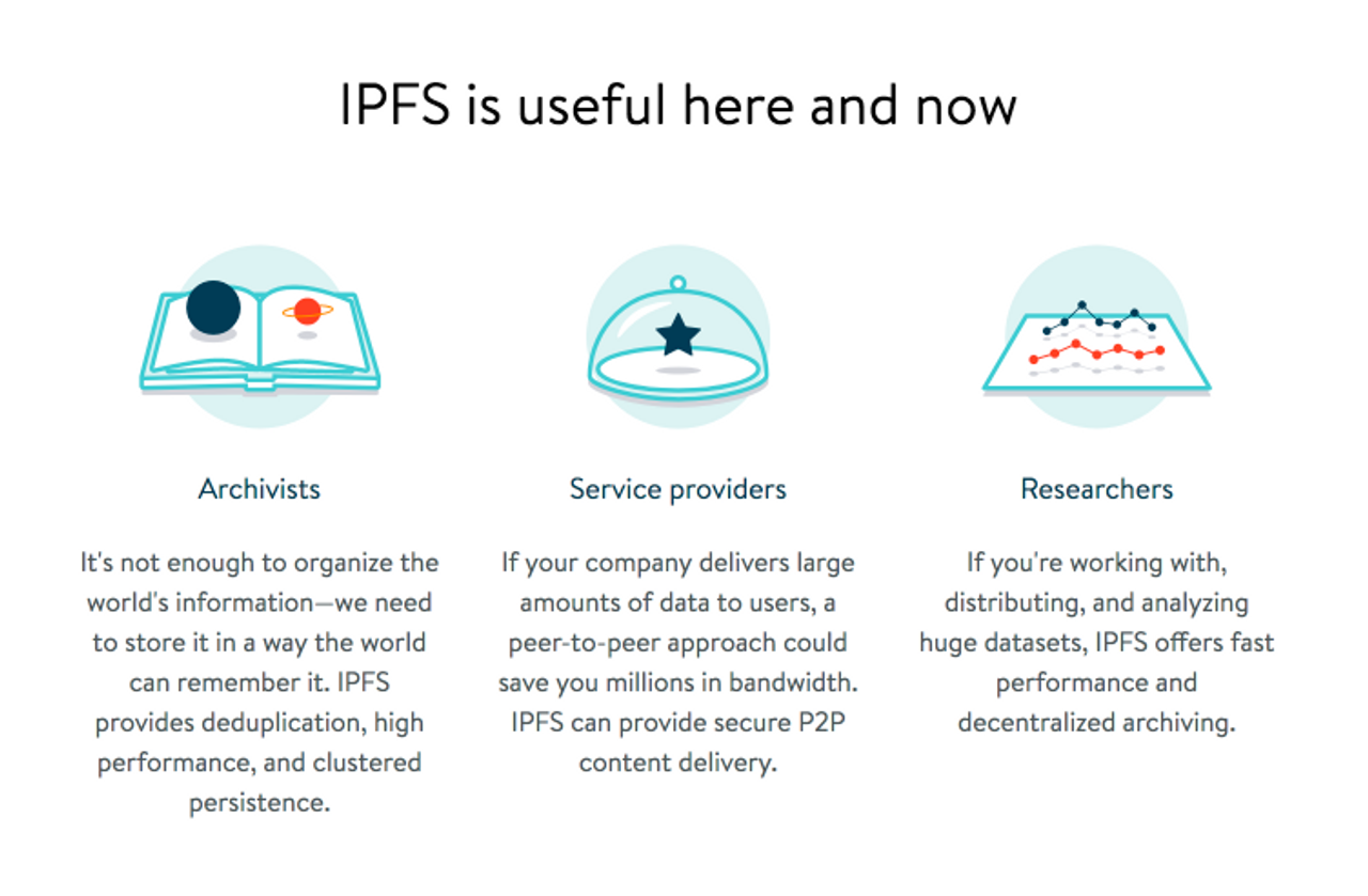 IPFS is useful here and now