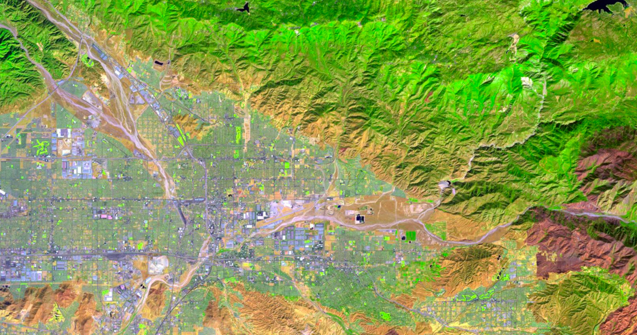 Landsat imagery of San Bernardino County
